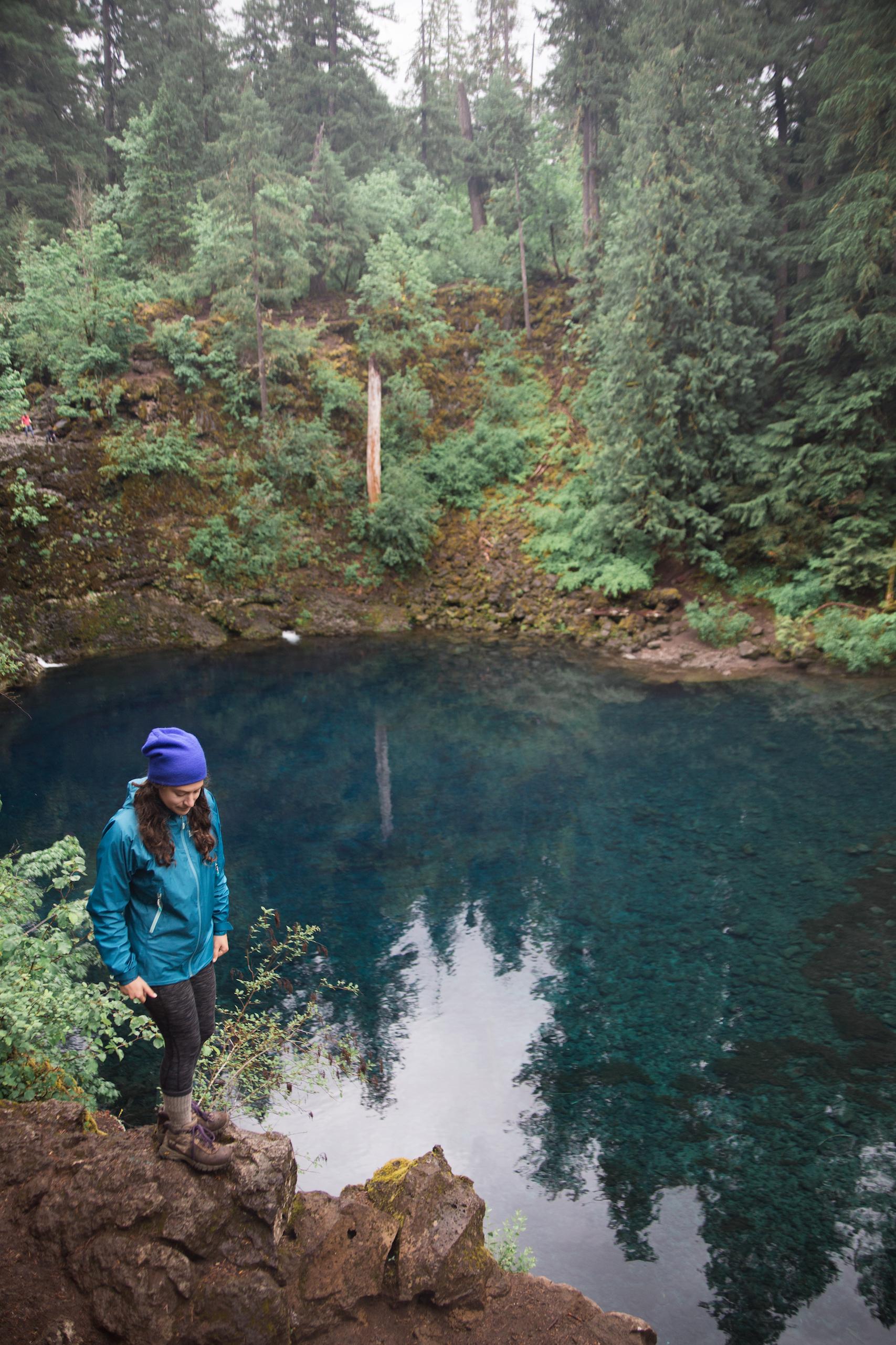 Kelsey at Tamolitch Blue Pool in Oregon