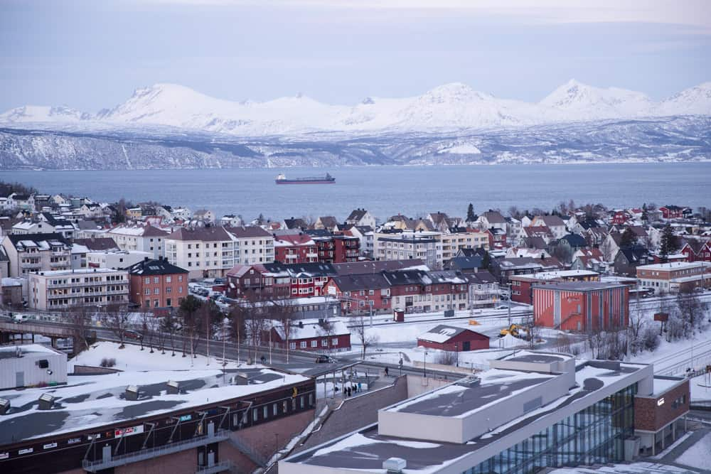 View from the Scandic Hotel in Narvik, Norway in January