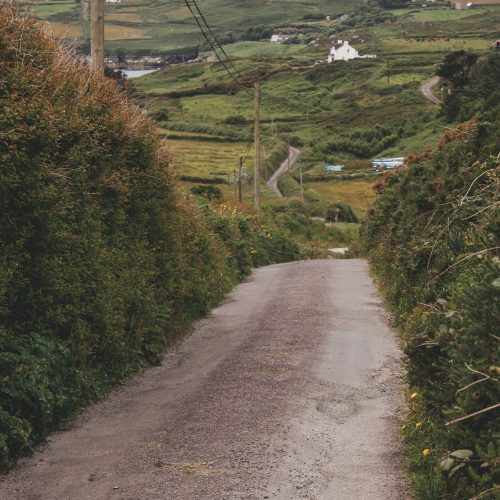Road in Cape Clear, Ireland