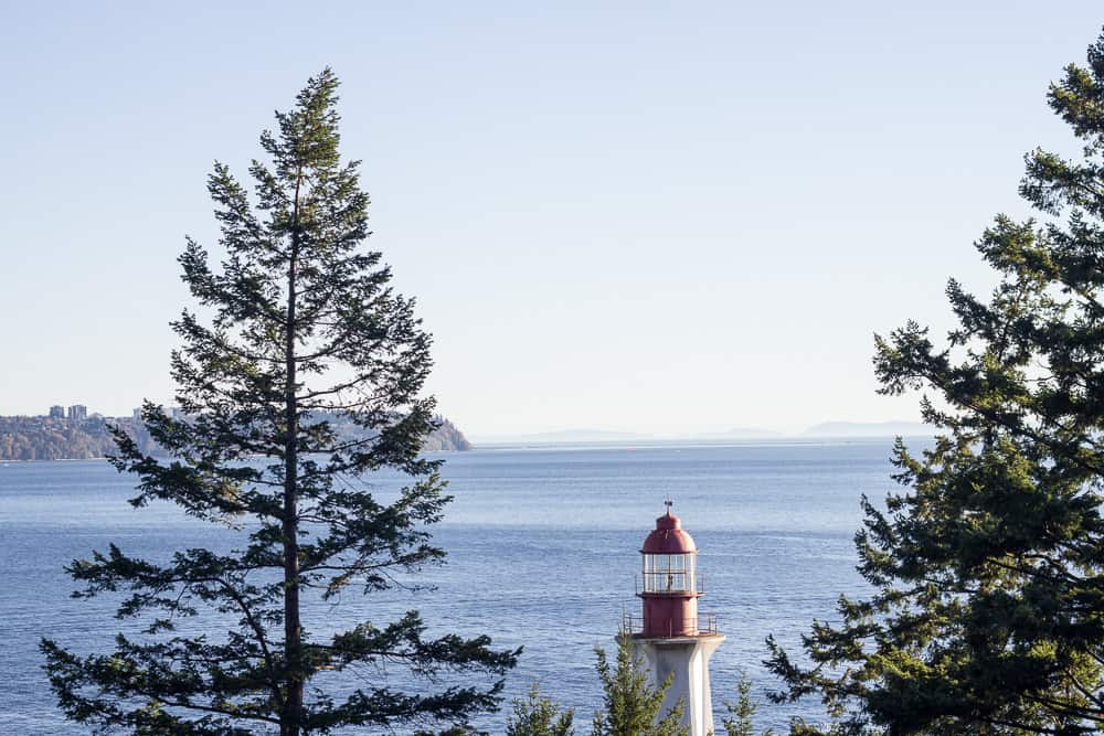 The lighthouse in Lighthouse Park, Vancouver, Canada, BC