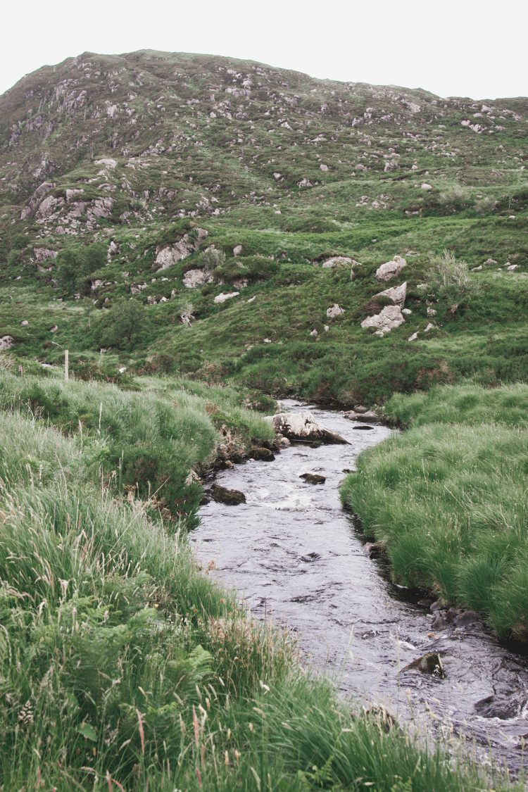 River on the Torc Mountain Trail in Ireland