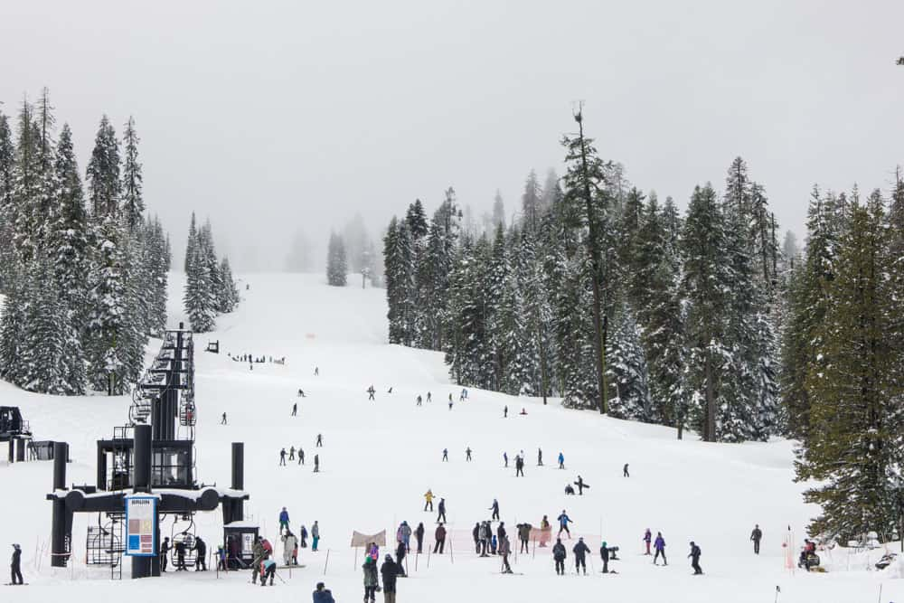 Winter in Badger Pass at the Ski or Snowboard Area in Yosemite National Park has fun activities for your winter itinerary!