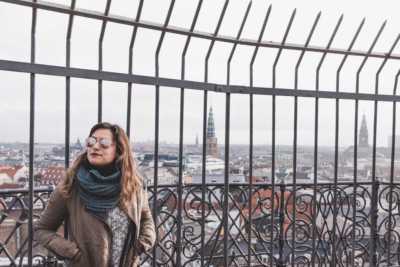 Views from the Round Tower, or Rundetaarnm, in Copenhagen in winter.