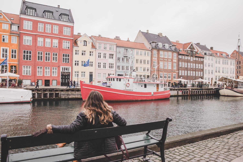 Nyhavn in Copenhagen in the winter