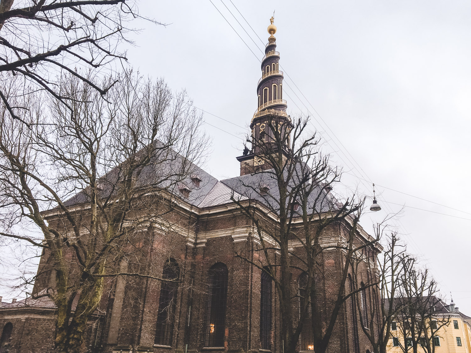 The Church of Our Savior in Copenhagen is unique and has a spiral top - it's free to enter and something to add to your winter Copenhagen itinerary!