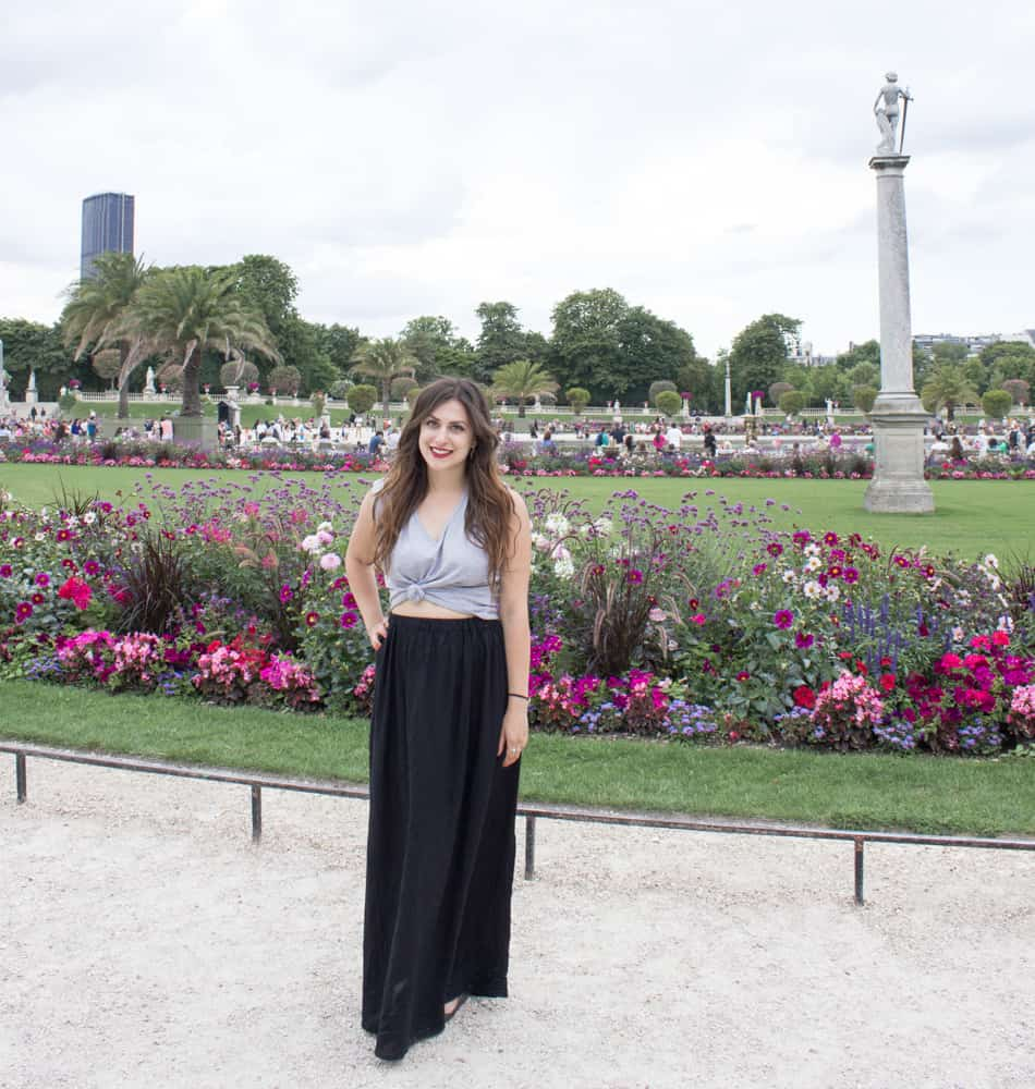 Girl in Paris at the Luxembourg Gardens; Flight Horror Stories