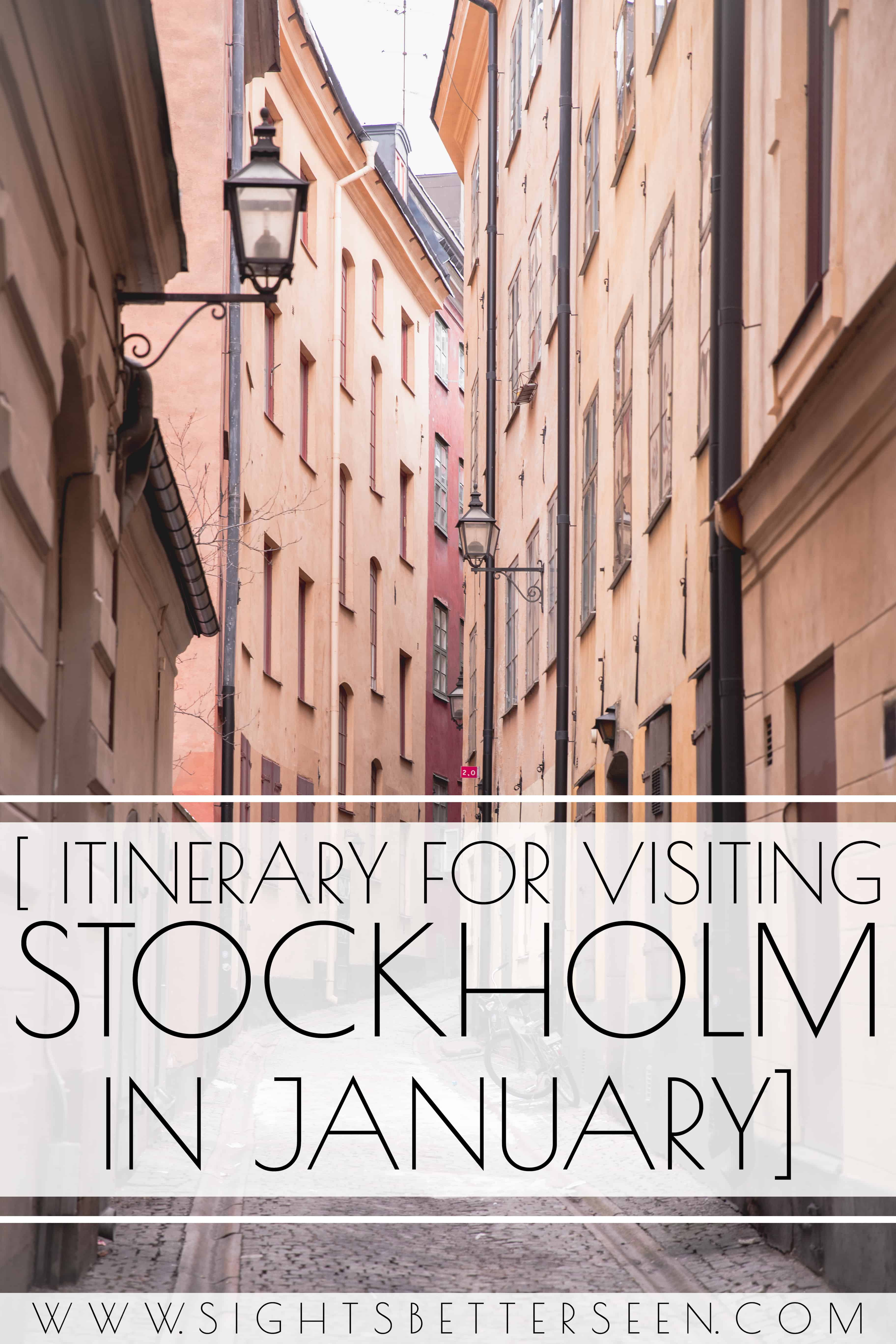 Why you should visit Stockholm in the middle of January - there are lots of great winter activities, like wandering around Gamla Stan and seeing the best metro station artwork!