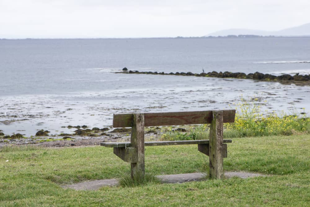 Bench in Galway, Ireland on the Salthill Promenade