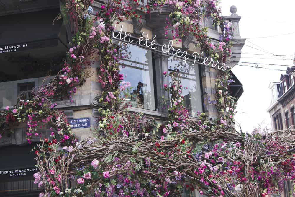 Pierre Marcolini in Brussels, Belgium is a popular chocolate shop and is covered in vines of flowers!