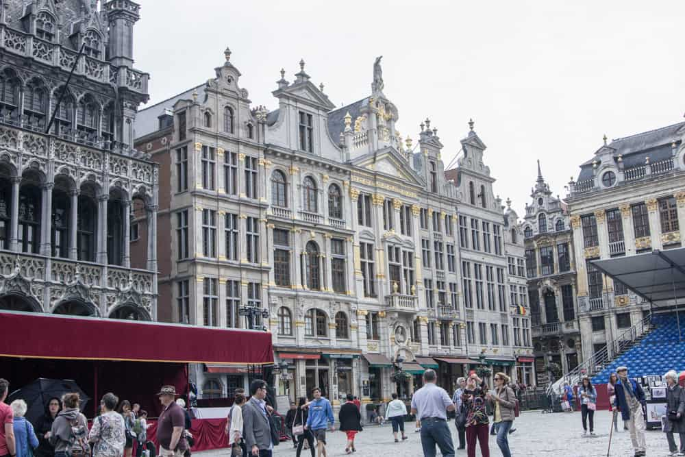 The Grand Place (Grote Markt) in Brussels, Belgium has beautiful architecture