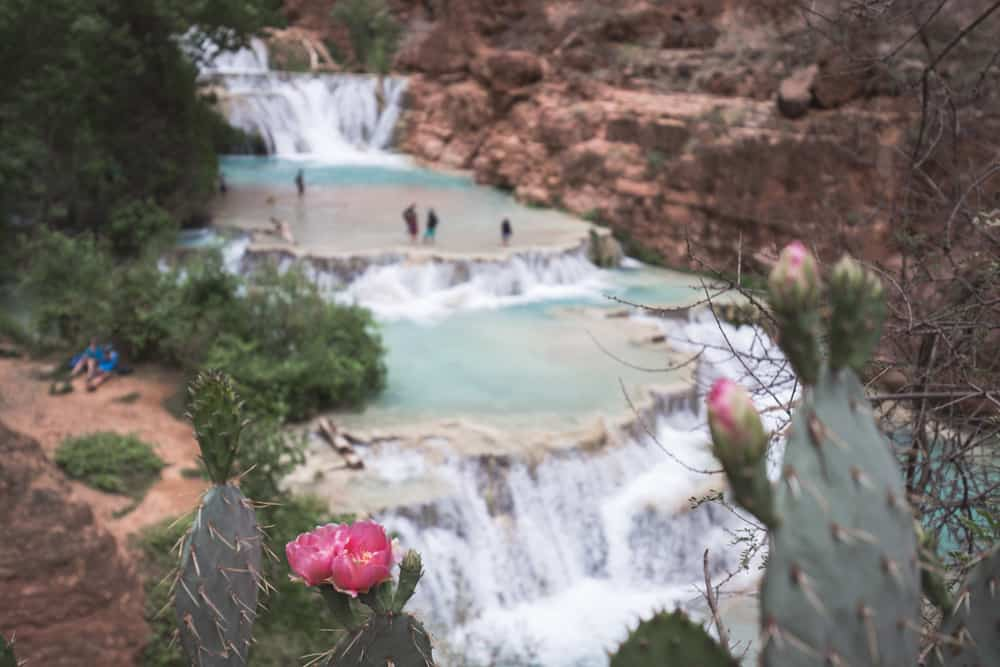 Beaver Falls in Havasupai in Arizona