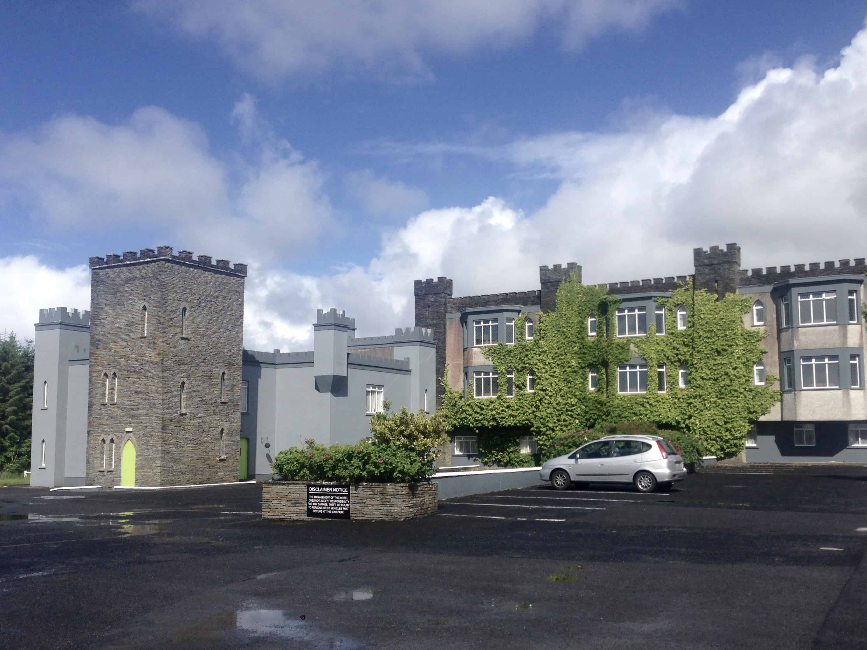 Castle Hotel in Ireland - one of the places we camped near while hitchhiking