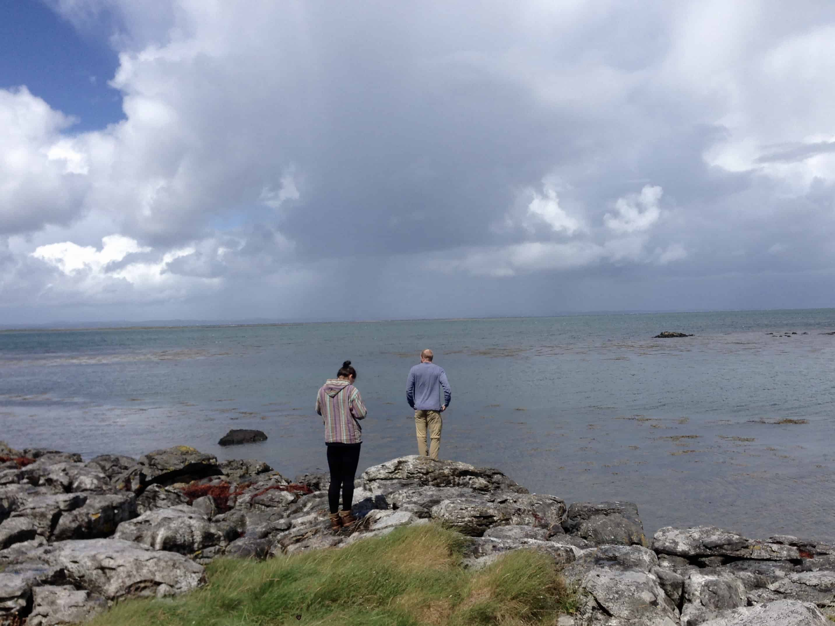 Overlooking the Wild Altantic Way (the coastline on the west side) in Ireland - one of our stops while hitchhiking