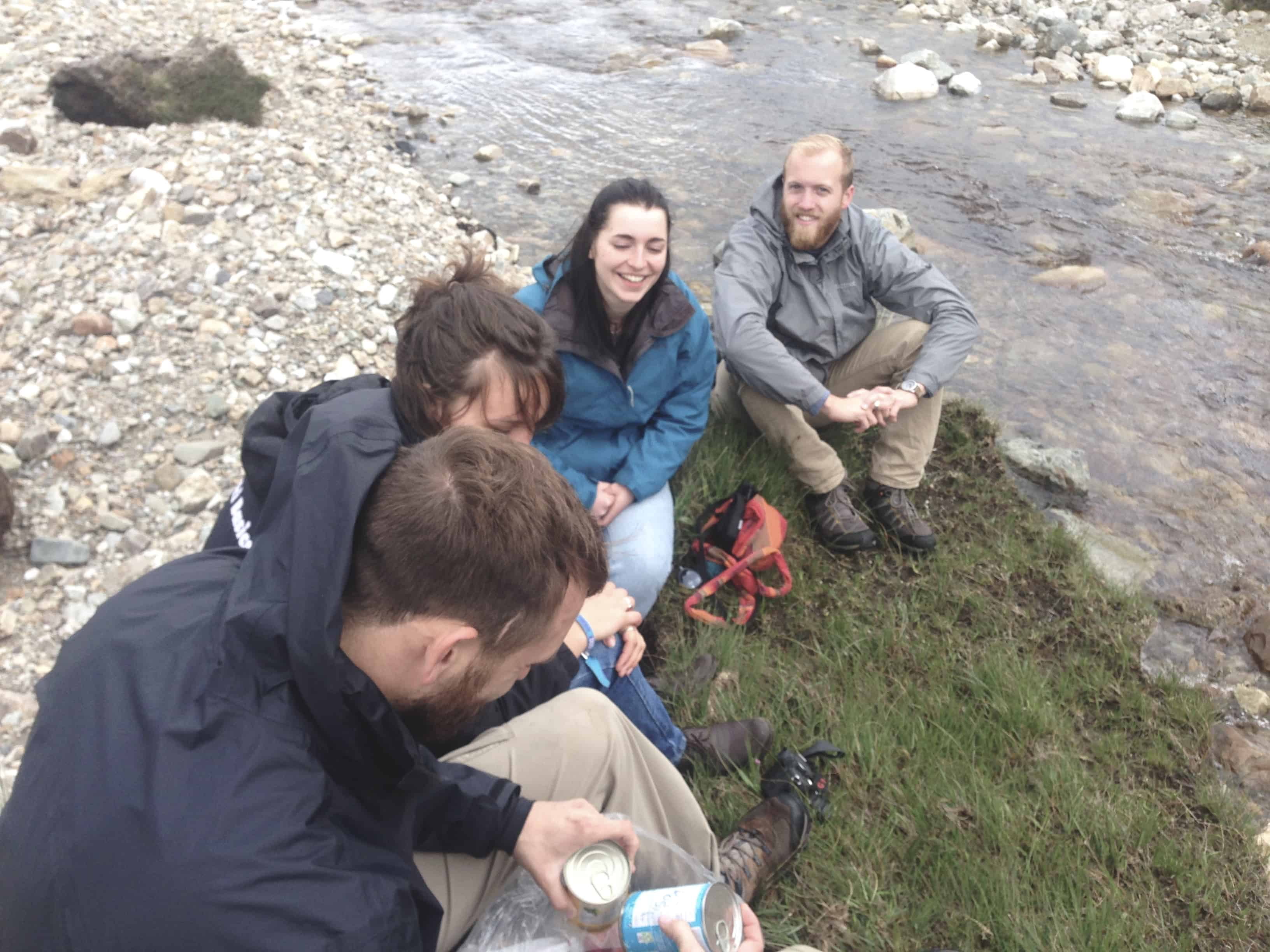 Hanging out in Connemara in Ireland eating canned beans - one of our stops while hitchhiking