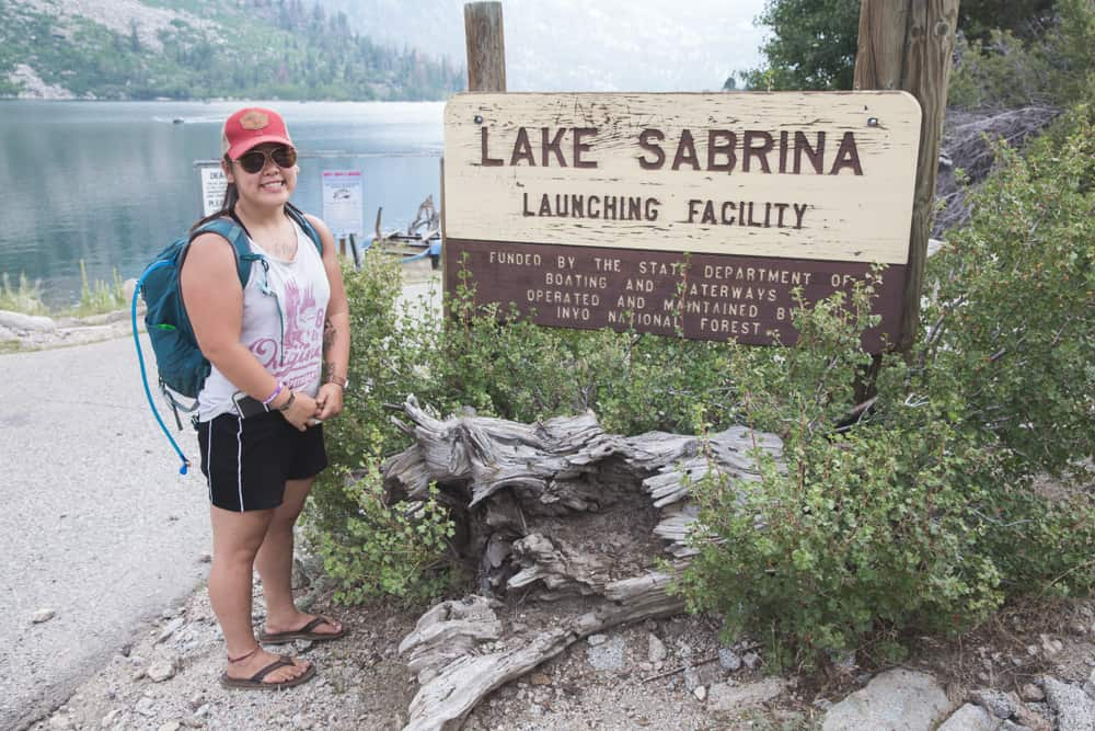 My friend Sabrina at Lake Sabrina