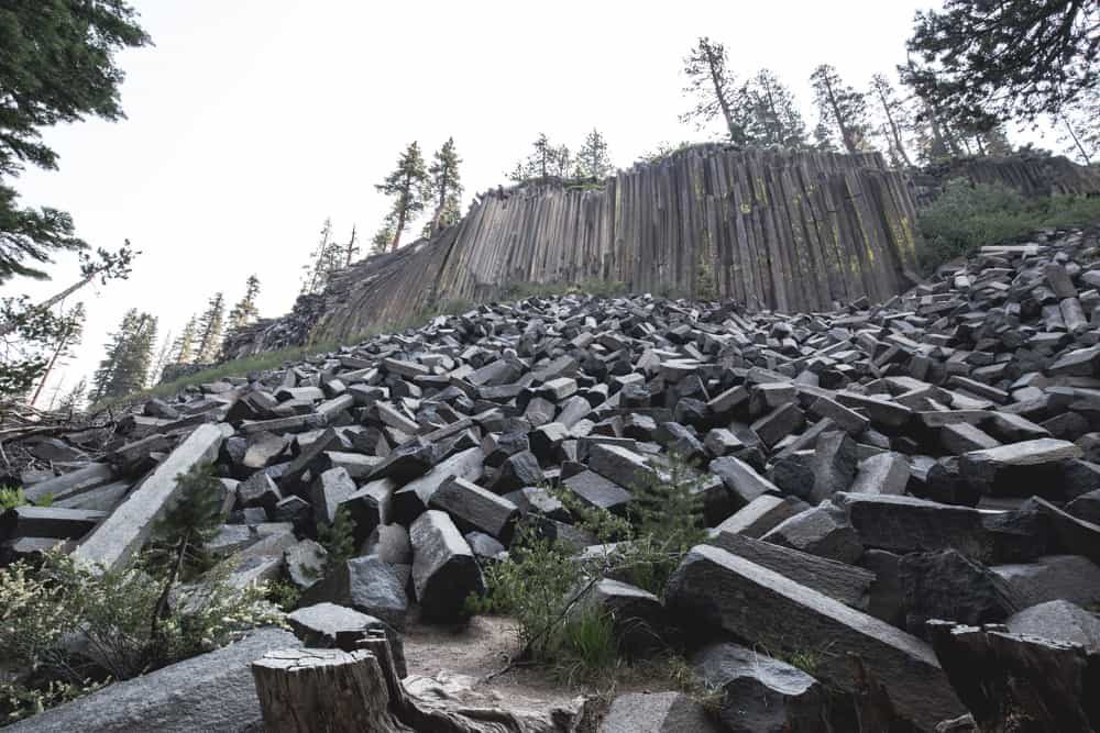 Devil's Postpile National Monument near Mammoth in California