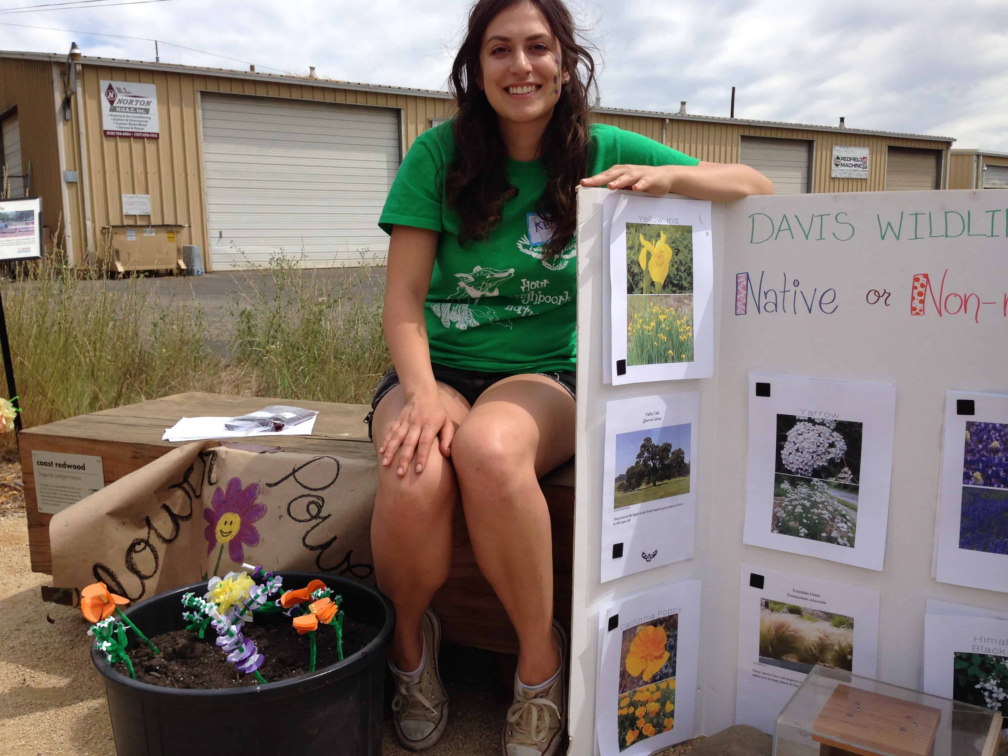 Girl with environmental education project