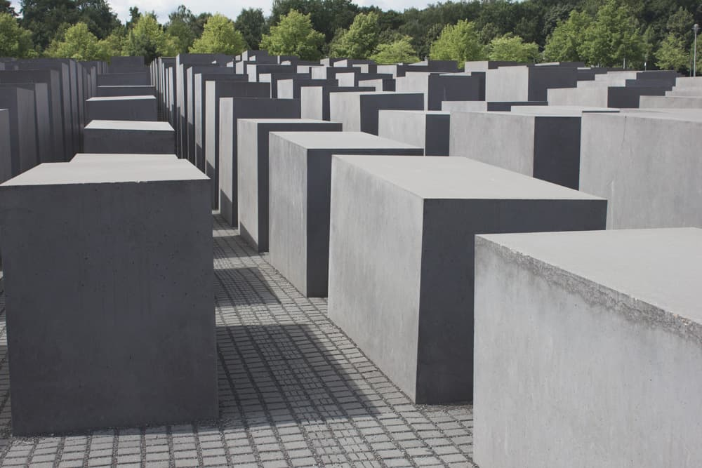 The Memorial to the Murdered Jews of Europe in Berlin, Germany
