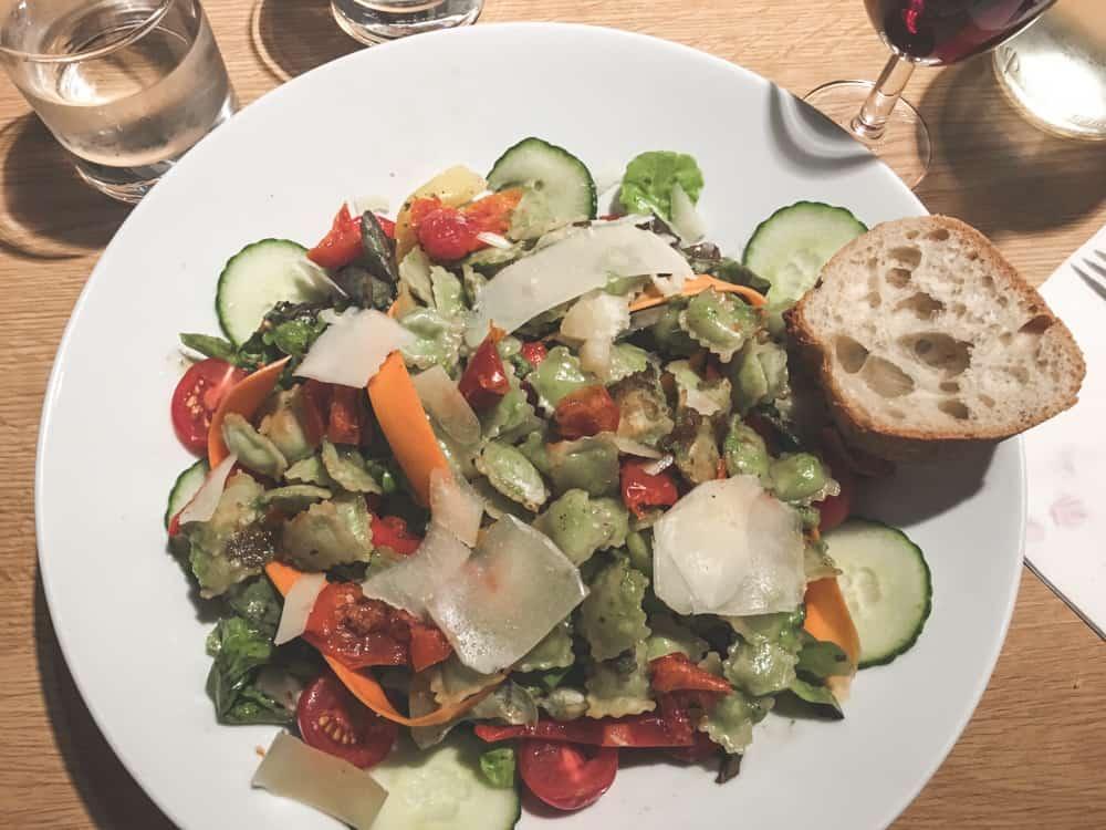 Ravioli salad in Lyon, France