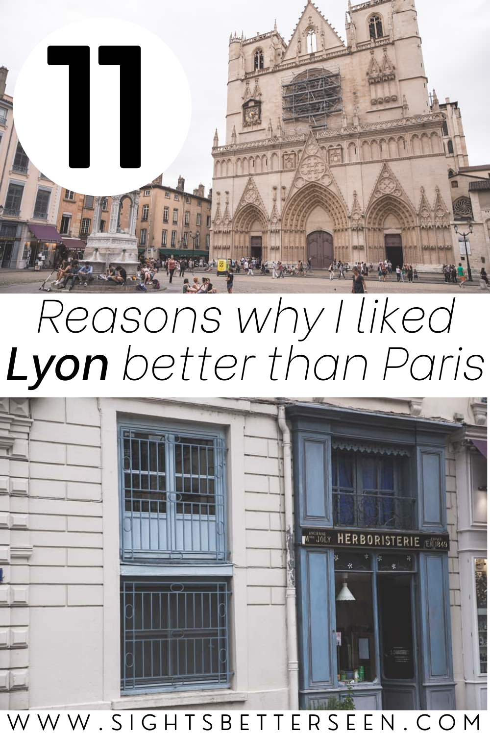 Beautiful buildings and squares in Lyon, France