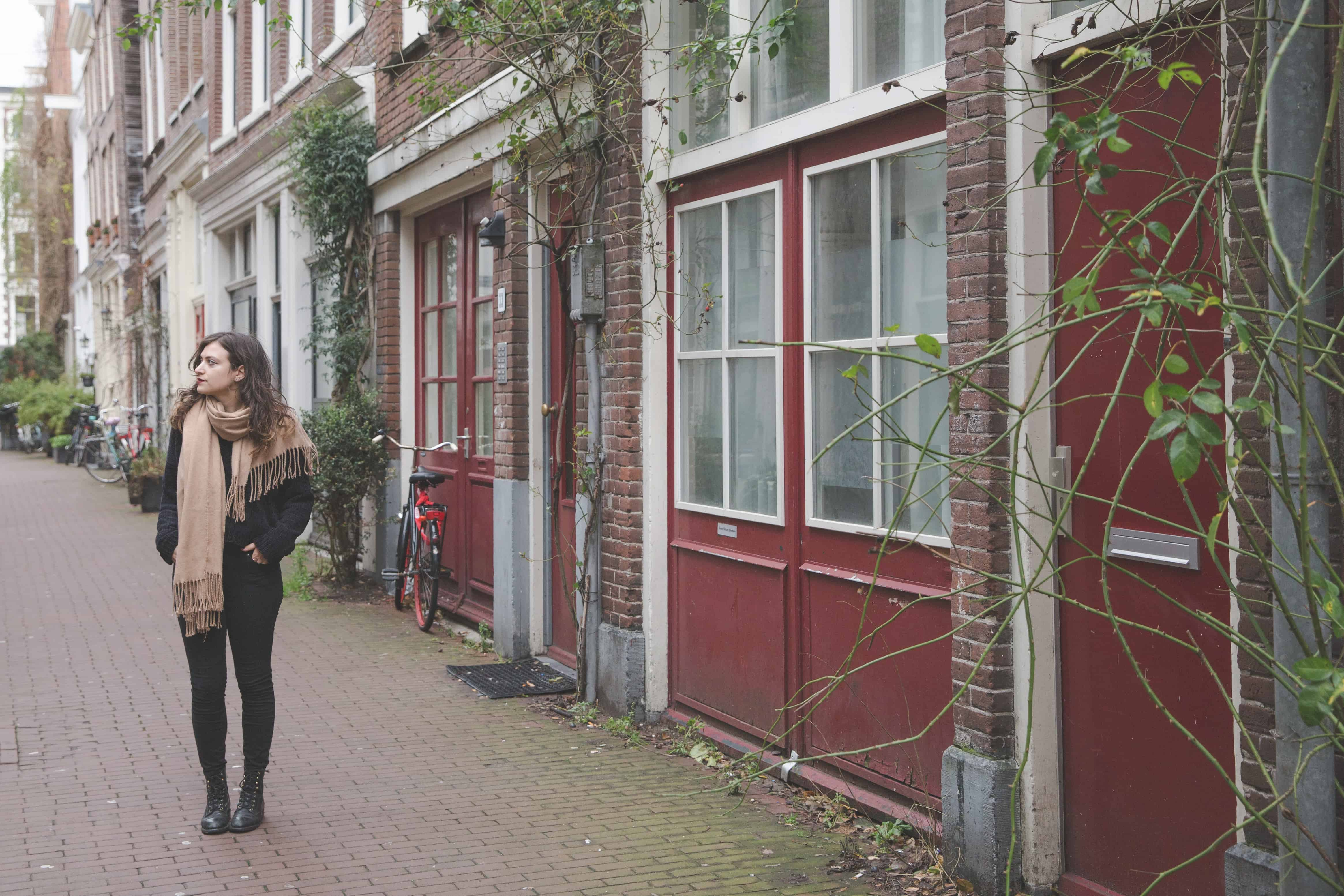 Side street in Amsterdam, The Netherlands