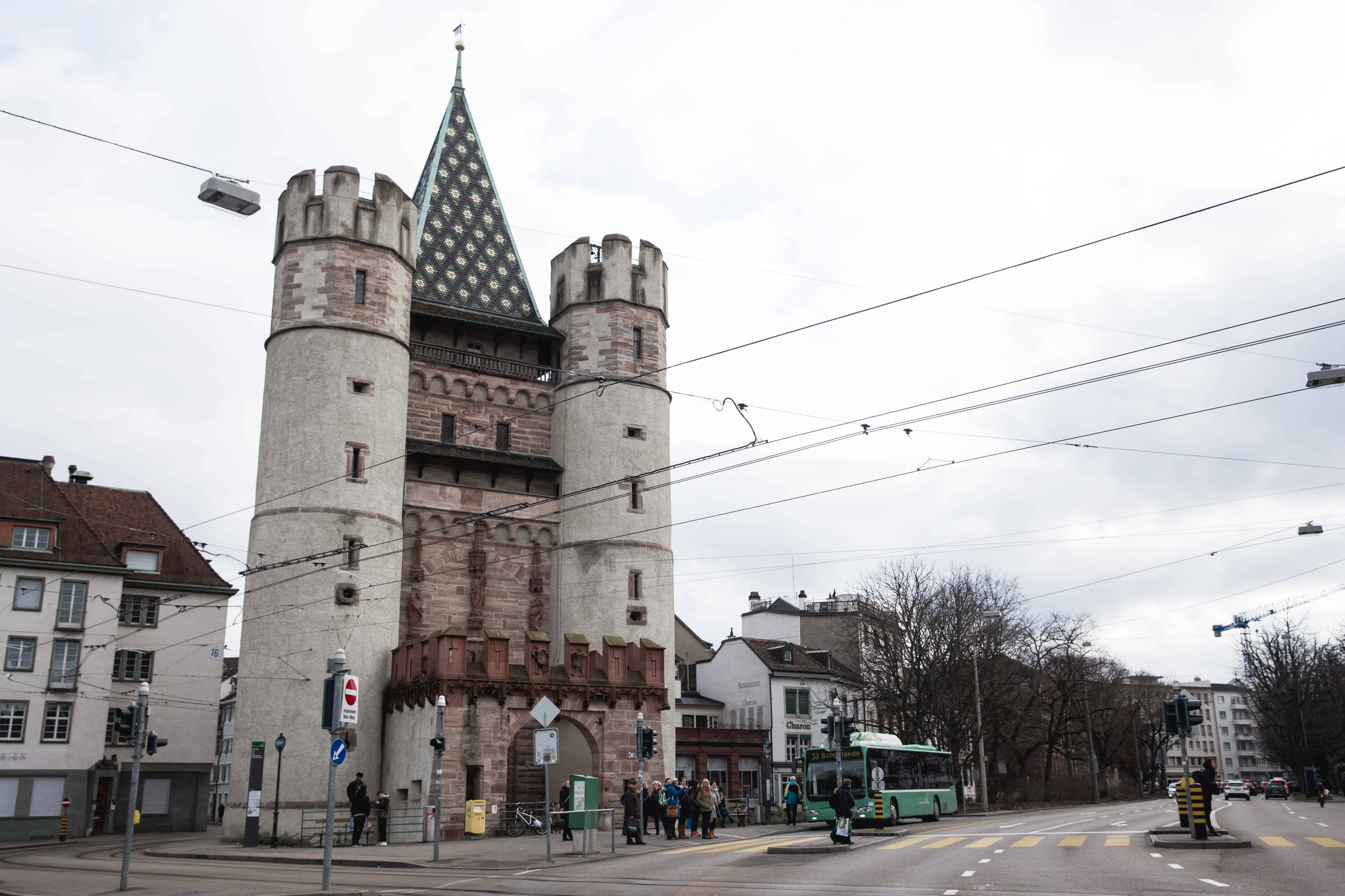 The Spalentor (Gate of Spalen) is one of the three city gates that still remains from the original Basel city wall in Basel, Switzerland