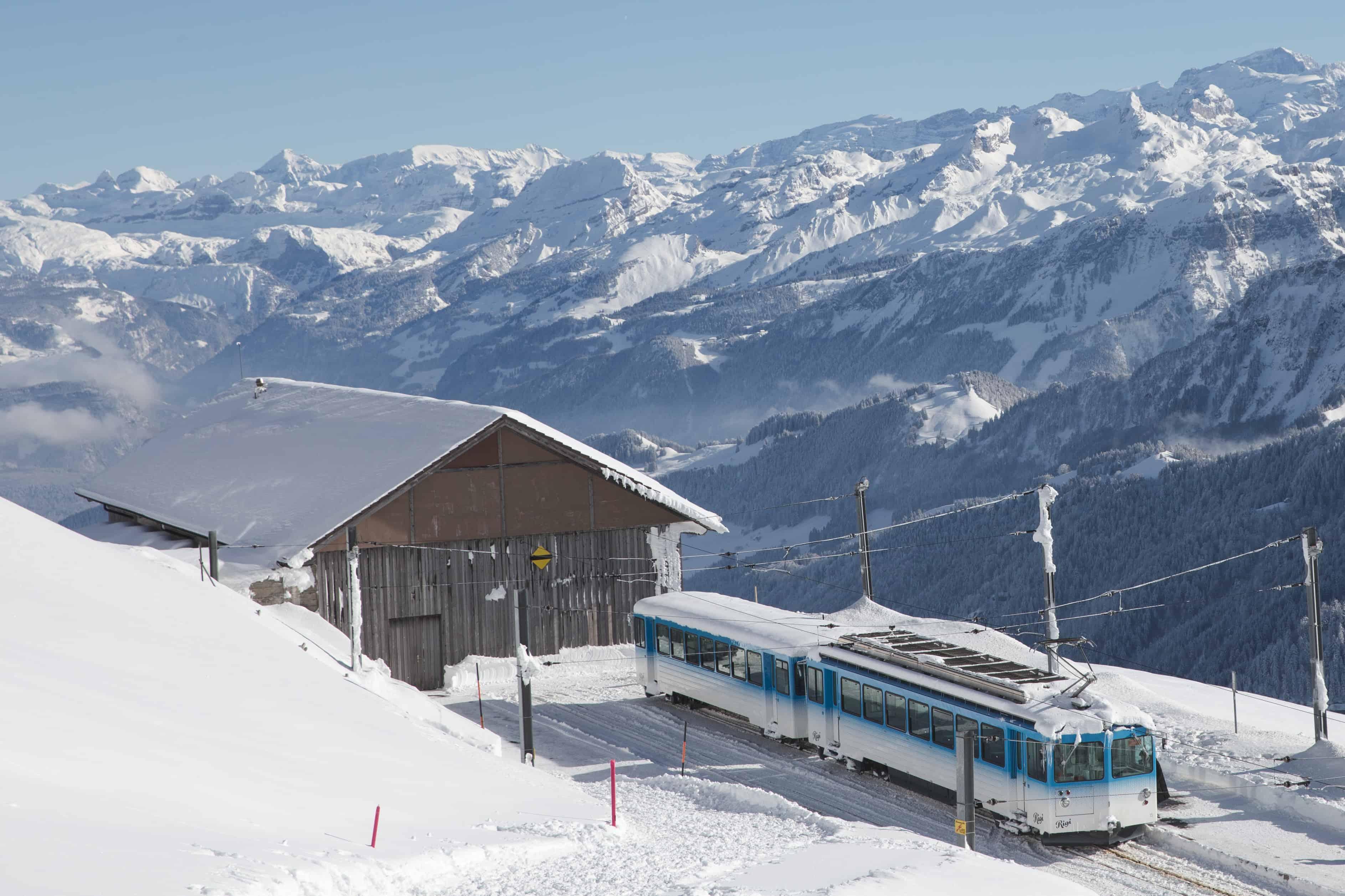 Rigi in Switzerland has beautiful views of mountain peaks