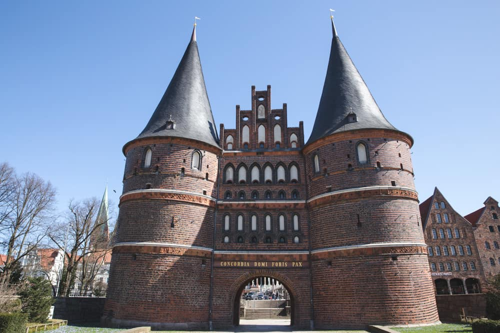 The Holsten City Gate in Lübeck is a good day trip from Hamburg