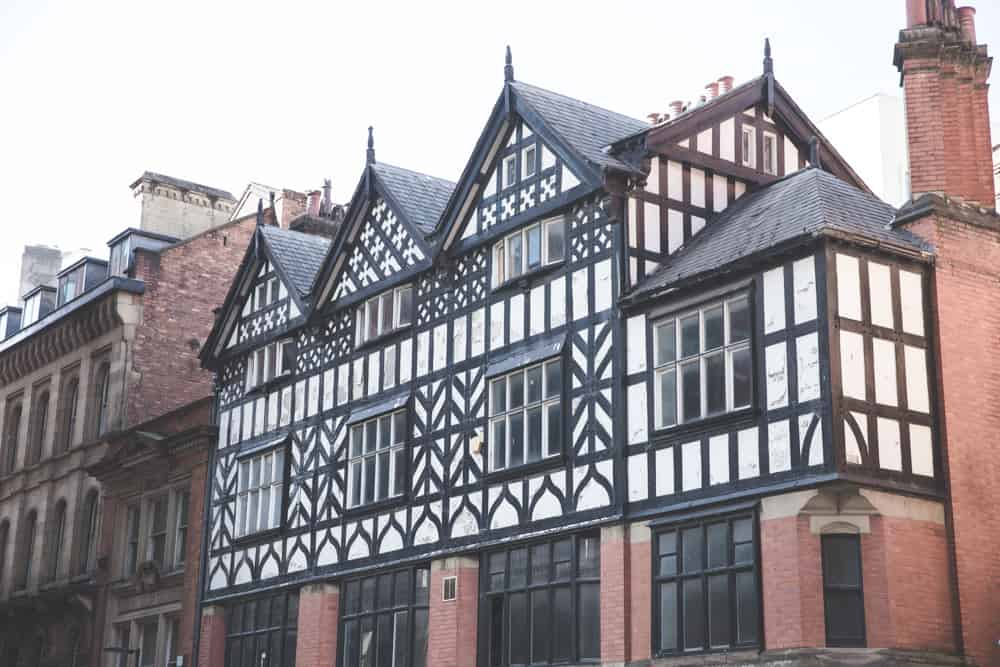 Half-timbered house in Manchester, England