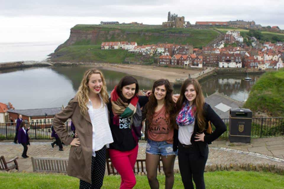 View of Whitby and Whitby Abbey from West Cliff - Whitby is one of the pretty Yorkshire coastal towns to visit