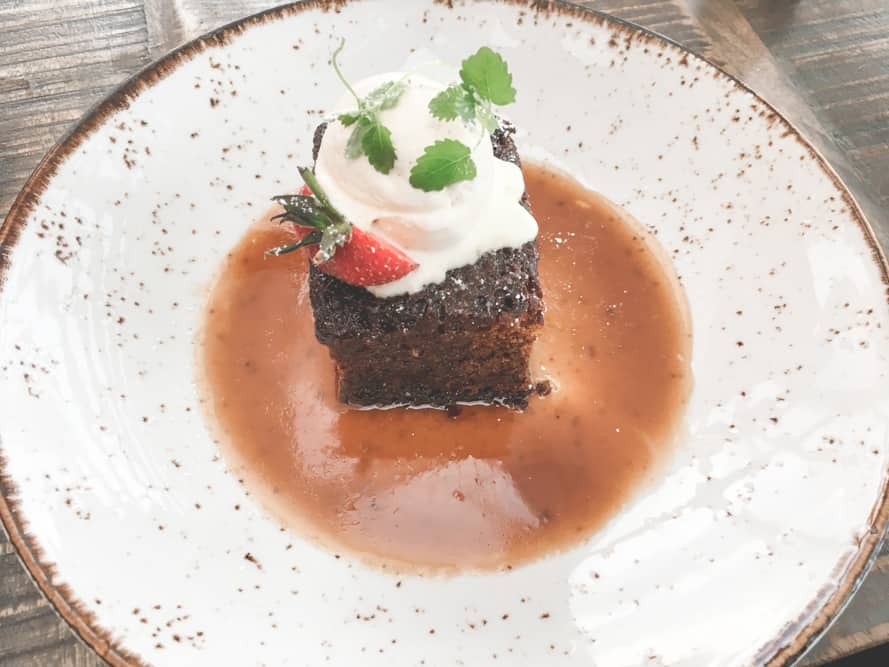 Sticky Toffee Pudding at the Spa Hotel in Saltburn-by-the-Sea in England