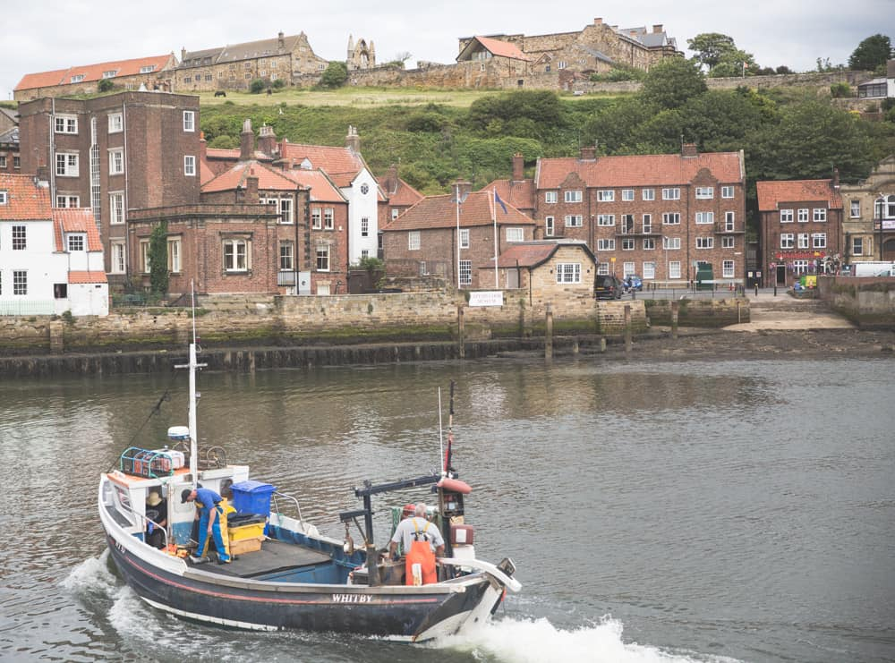 Whitby Harbor in Whitby, England - one of the coastal Yorkshire towns to visit