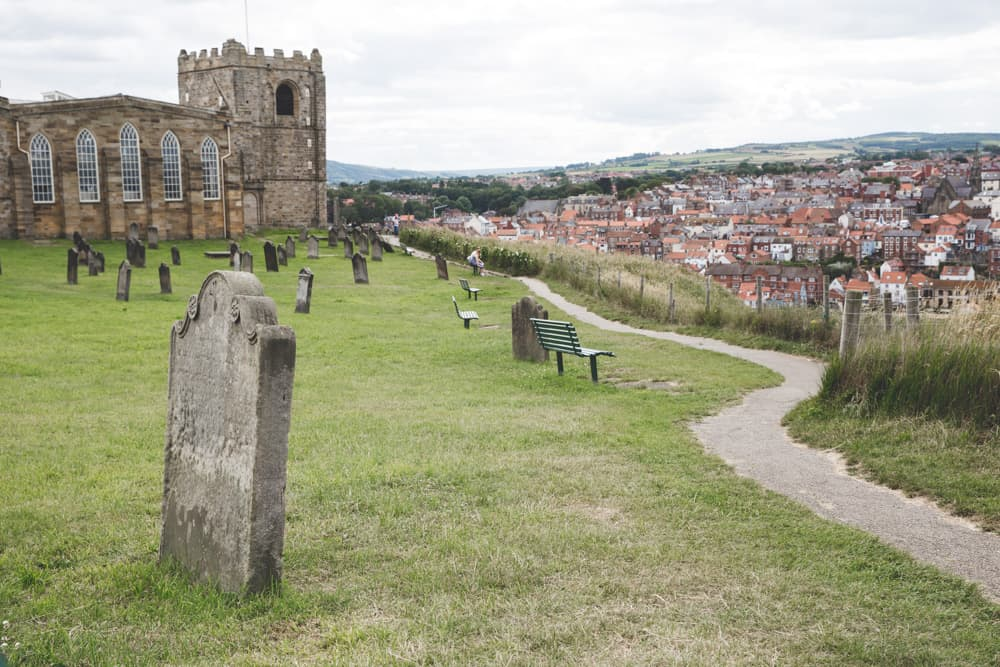 St. Mary's Church in Whitby, England - one of the Yorkshire coastal towns to visit