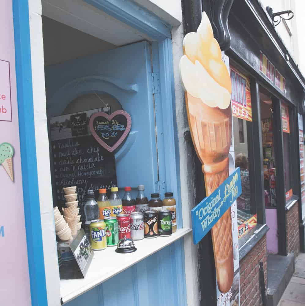Lemon Top ice cream, or vanilla dairy ice cream with a lemon sorbet, is popular in all the Yorkshire coastal towns