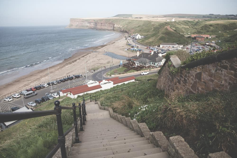 View of Saltburn-by-the-Sea in England from above