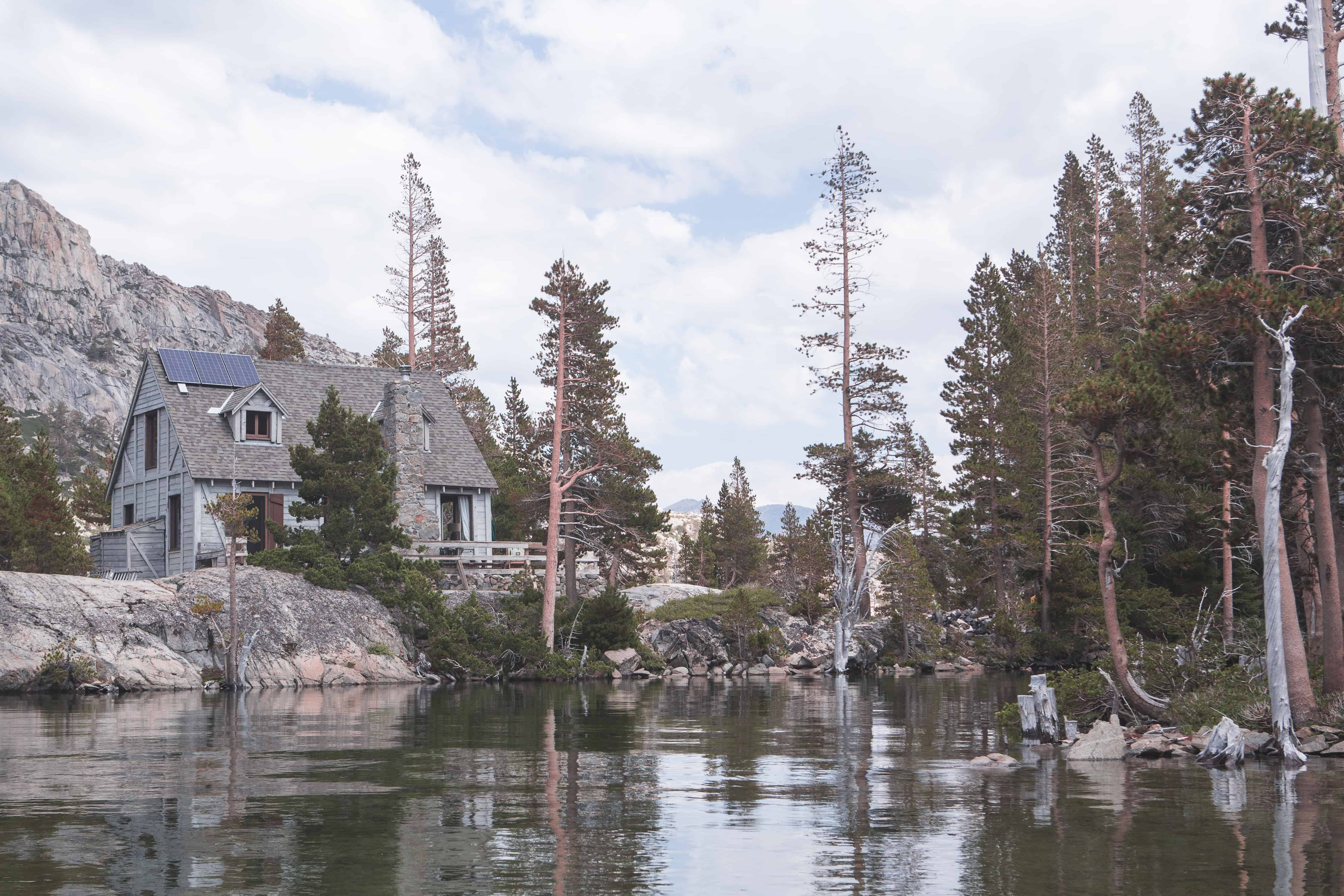 Cabin on a lake in Lake Tahoe, California