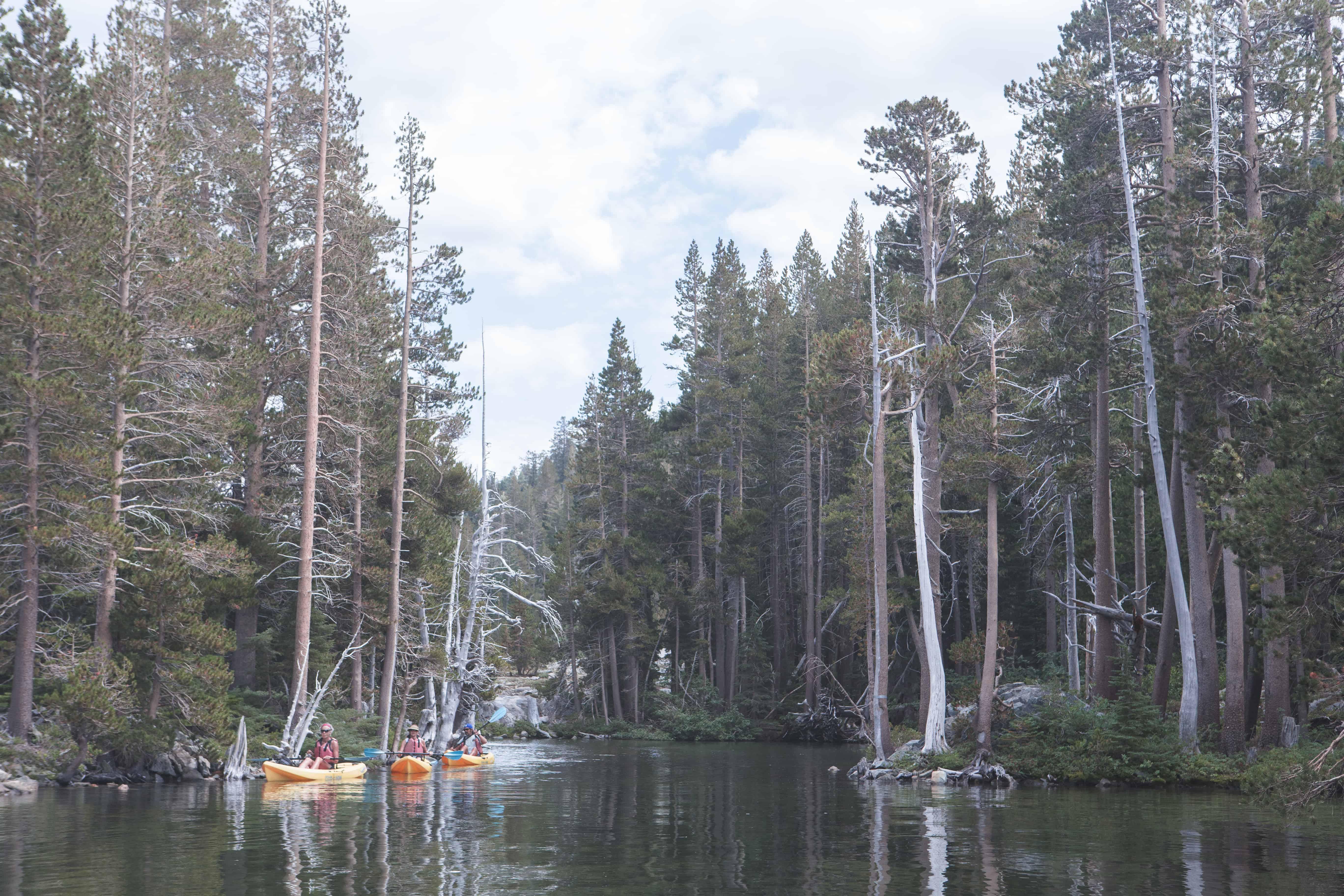 Kayaking through Lake Tahoe is a great way to see the lake!