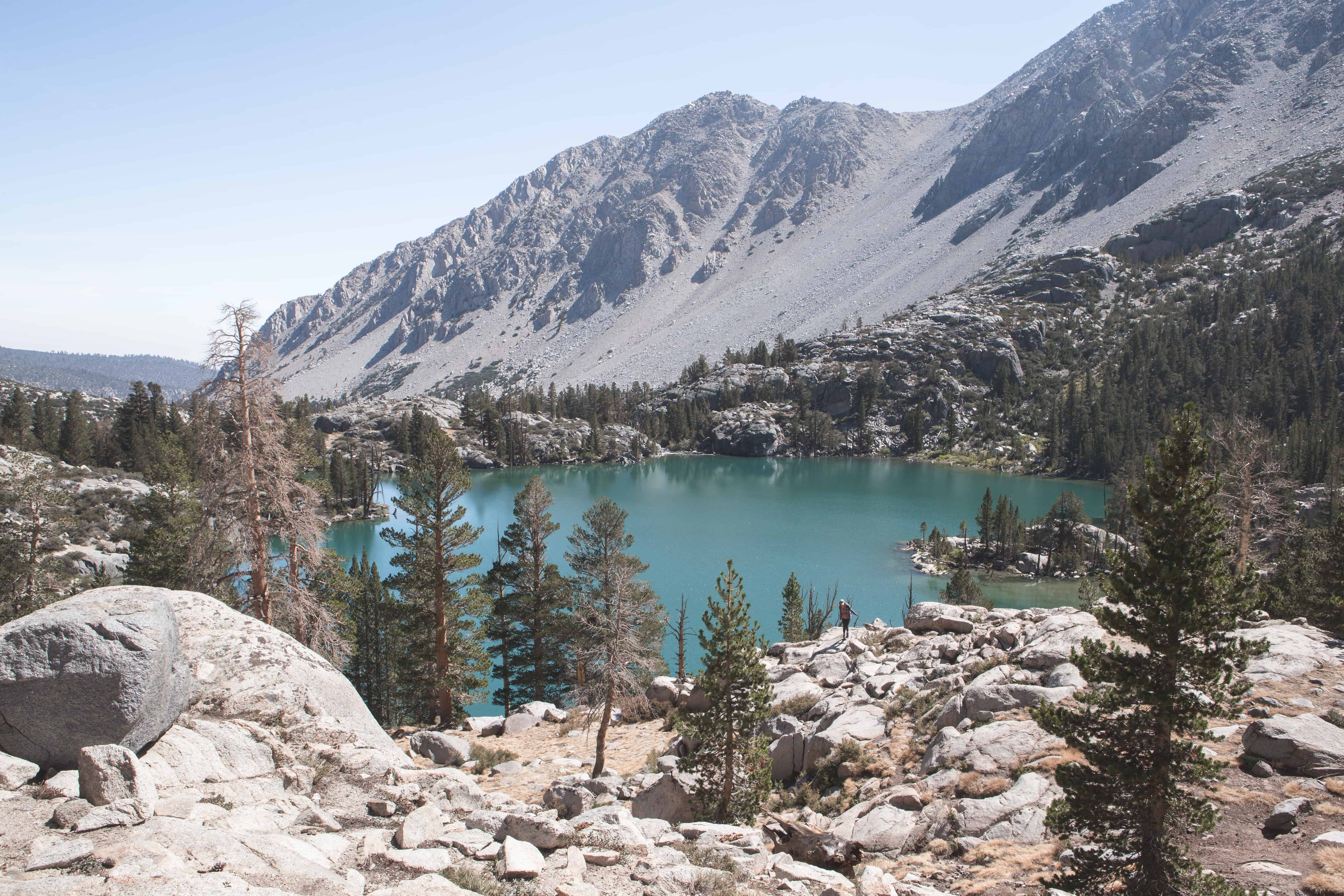 First Lake on the Big Pine Lakes Loop in California