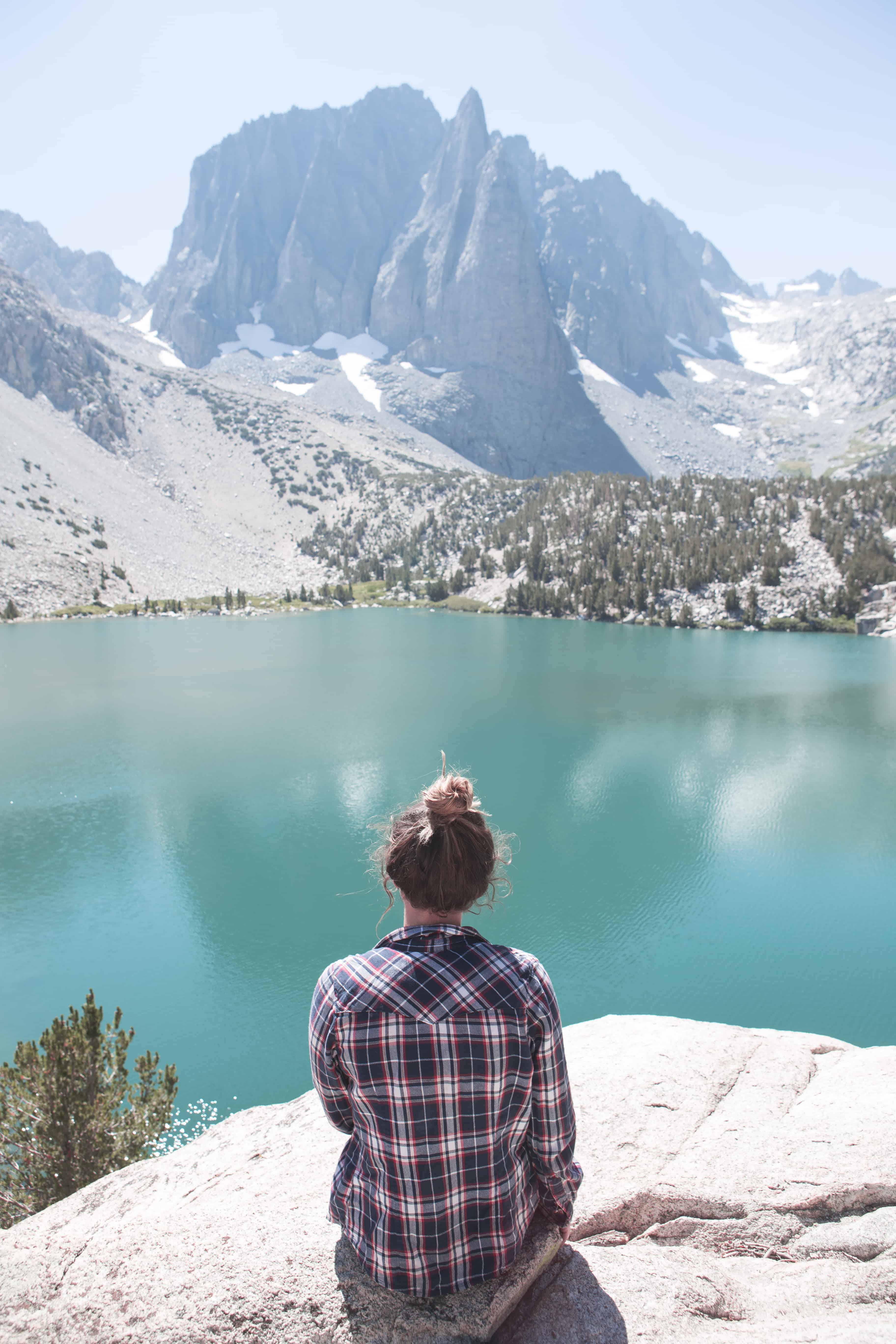 Temple Crag overlooking Second Lake on the Big Pine Lakes Loop in California