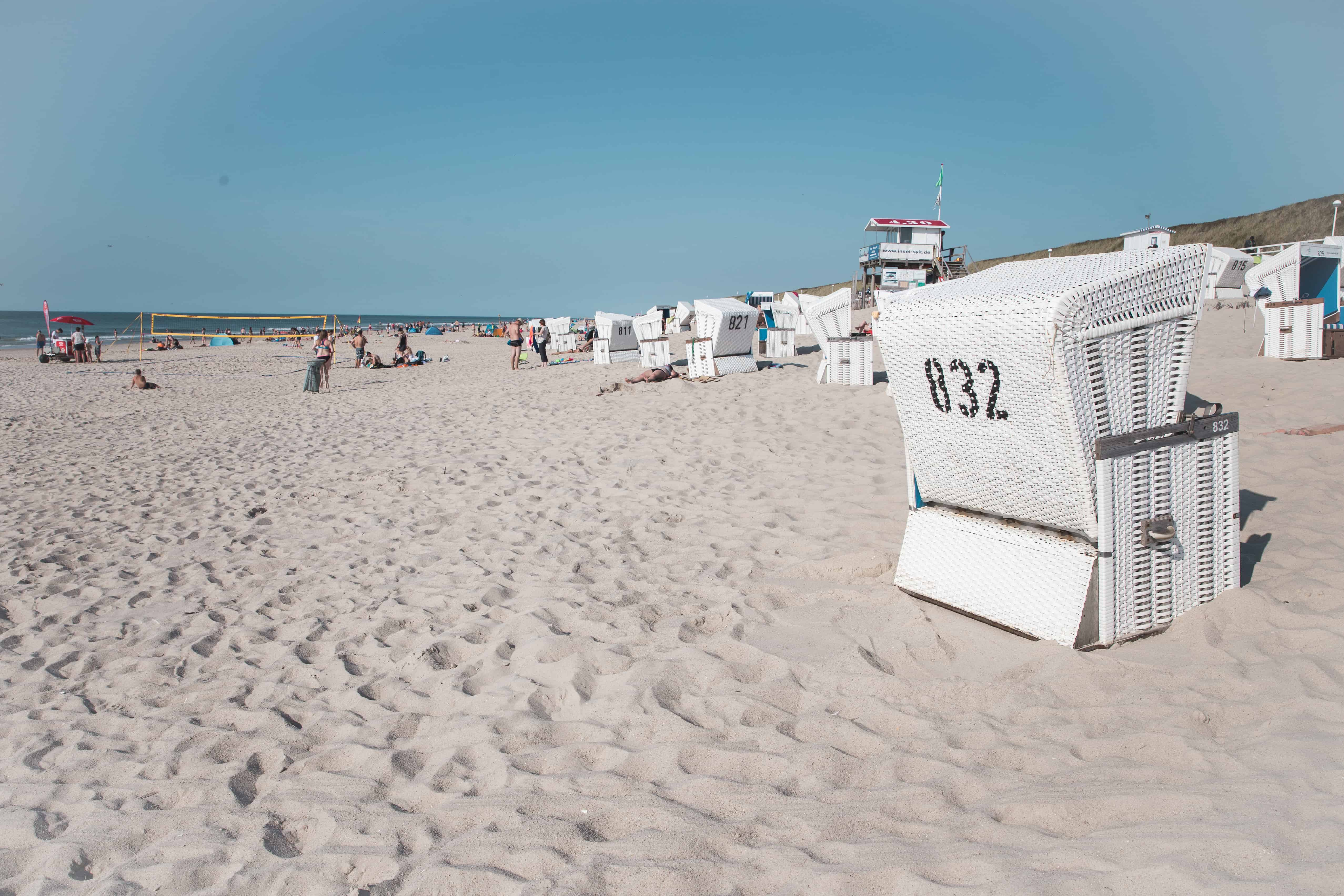 Beach on the island of Sylt, Germany
