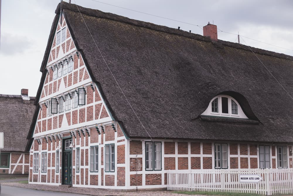 Half-timbered House in Altes Land in Germany