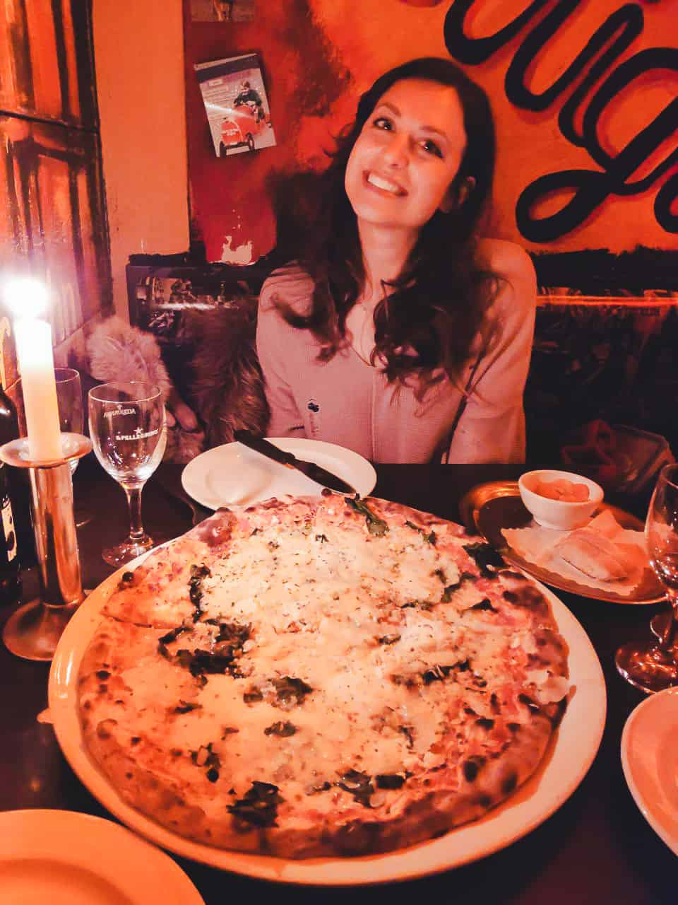 Luigi's pizza restaurant in Hamburg, Germany is known for its giant pizzas!