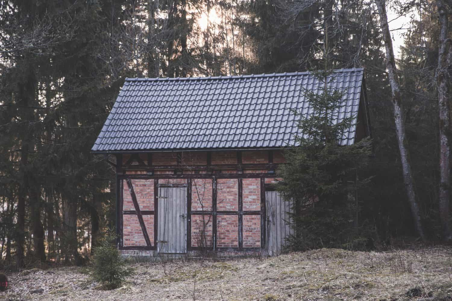 Brick house in Harz National Park in the Harz Mountains