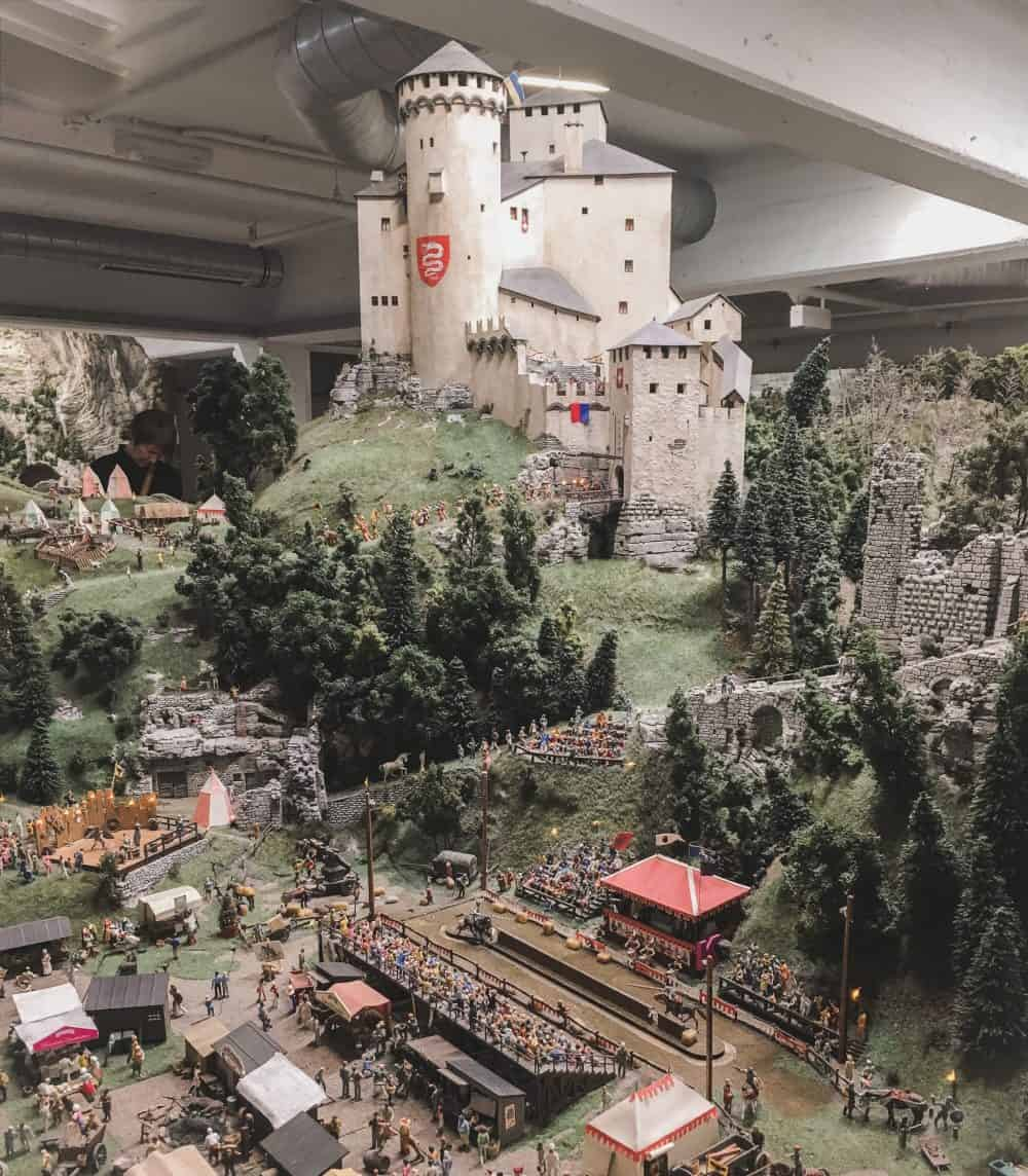 Miniatur Wunderland is a great place to go if you have one day in Hamburg! This is miniature Medieval Times, but they also have miniature Venice, Scandinavia, Las Vegas, the American Southwest, and more!