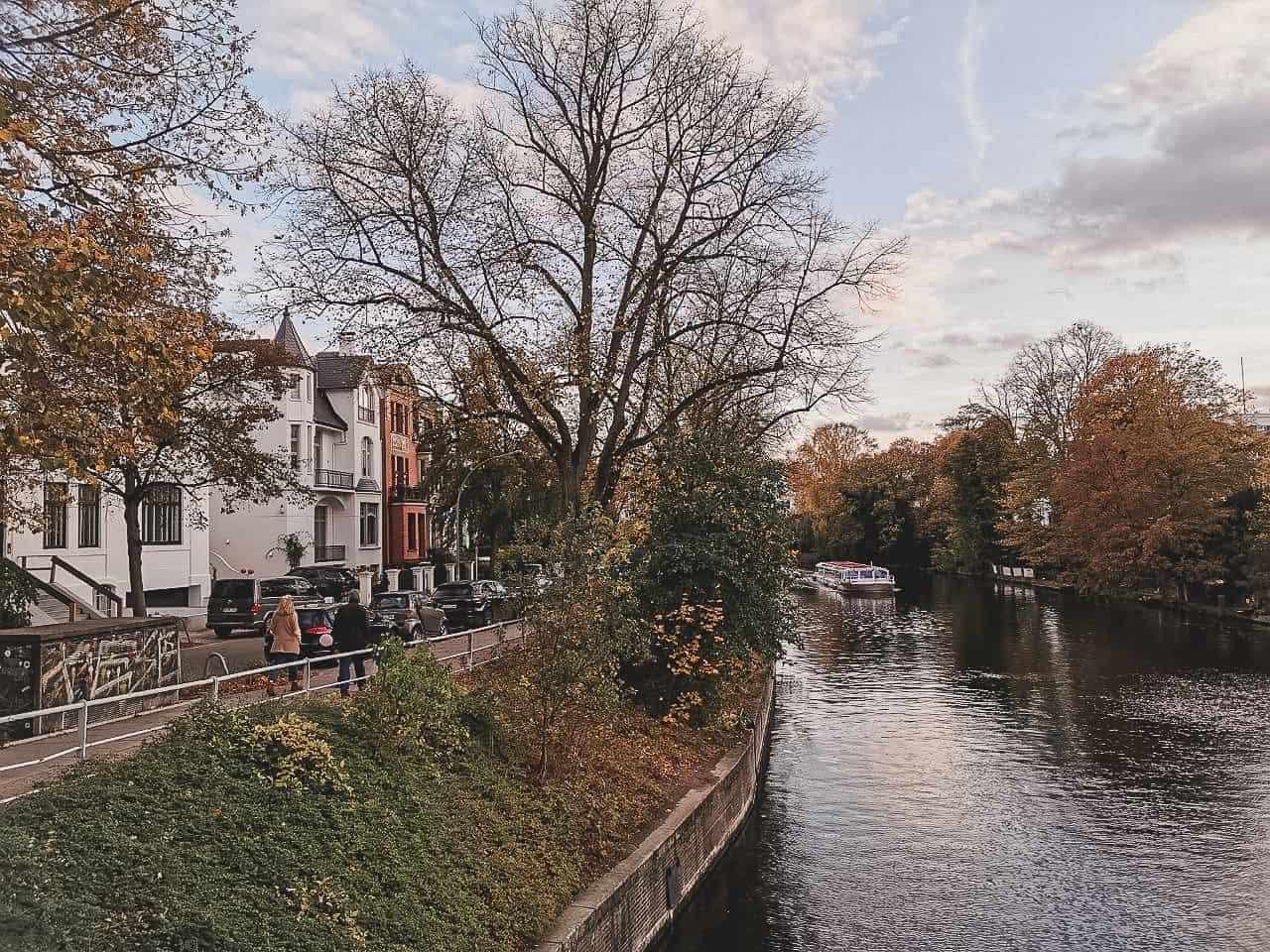 Waterway in Hamburg in Eppendorf