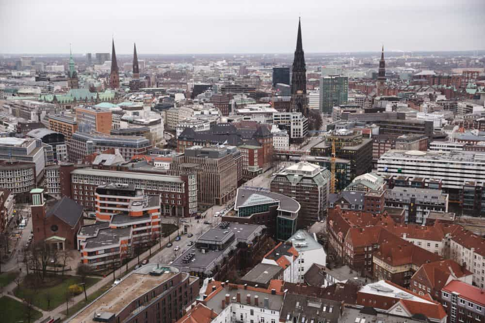 View of Hamburg from St. Michael's Church - house sitting is a great way to visit cities like this for (almost) free!
