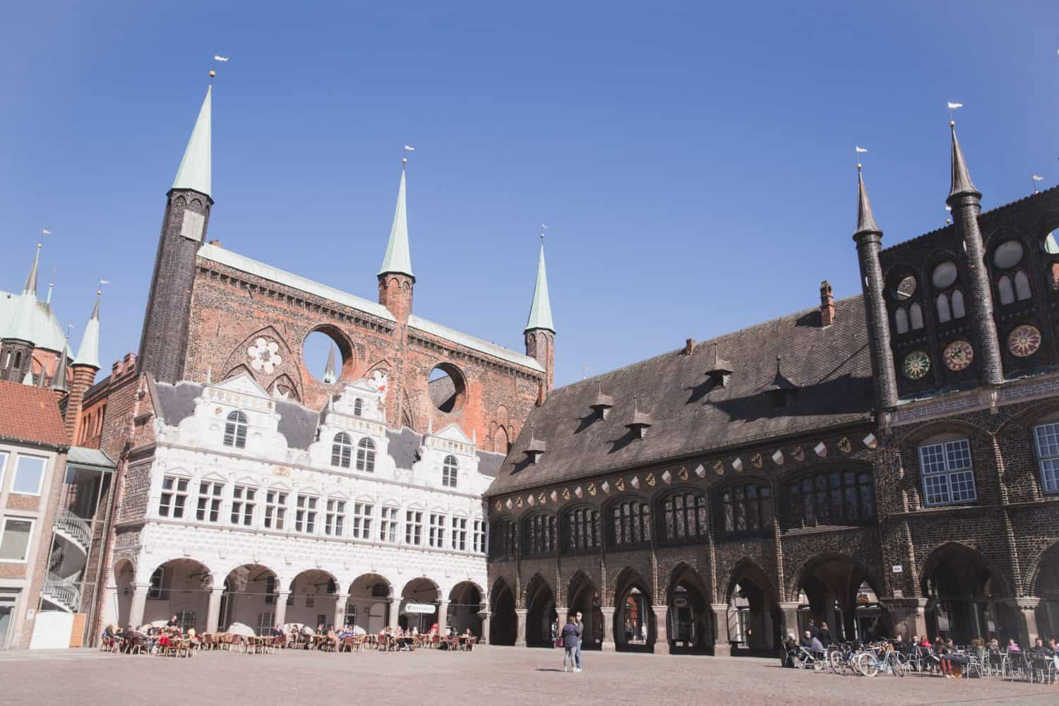 Lübeck Rathaus, or Town Hall, is a beautiful historic building in the center of Lübeck.