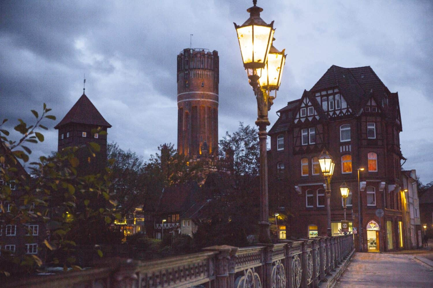 Lüneburg makes a great day trip from Hamburg, Germany! The Water Tower is a great place to go to get a beautiful view of the city - the water tower is the highest building in this photo.