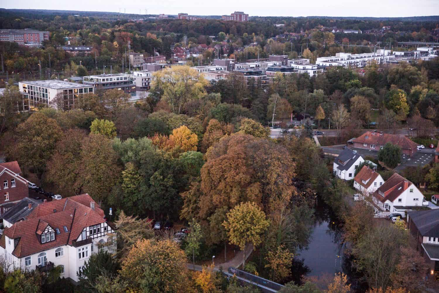 The view from the Lüneburg Water Tower. Lüneburg makes a great day trip from Hamburg!