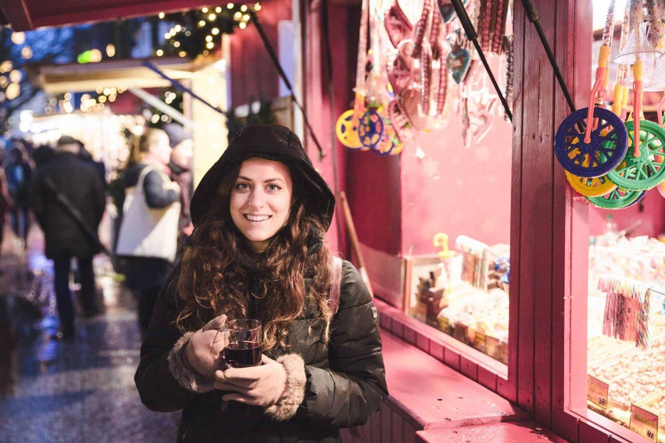 Glühwein at a Christmas market in Hamburg, Germany